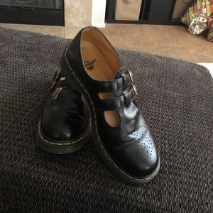 Size 41, black leather Doc Martins